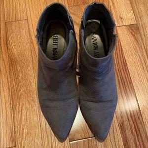 Gray bootie